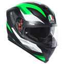AGV K5 S Full Face Motorcycle Helmet Marble Black/White/Green