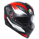 AGV K5 S Full Face Motorcycle Helmet Marble Black/White/Red