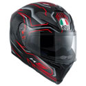 AGV K5 S Full Face Motorcycle Helmet Deep Black/White/Red
