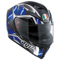 AGV K5 S Full Face Motorcycle Helmet Hurricane Black/Blue/White