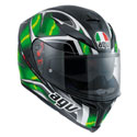 AGV K5 S Full Face Motorcycle Helmet Hurricane Black/Green/White