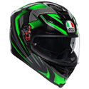 AGV K5 S Full Face Motorcycle Helmet Hurricane 2.0 Black/Green