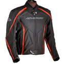 AGV Sport Dragon Leather Motorcycle Riding Jacket Black/Red