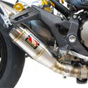 2018 Ducati Monster 821 Competition Werkes Slip-On Exhaust