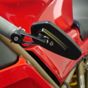 CRG Arrow Billet Bar End Mirror Black