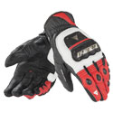 Dainese 4 Stroke Evo Leather Motorcycle Gloves White/Red/Black