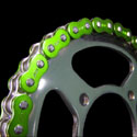 EK 525 ZVX3 Series Supersport Chain - 120 Links - Green