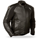 Fly Street Apex Leather Motorcycle Jacket Black