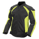 Fly Street Coolpro Mesh Motorcycle Jacket Hi Vis/Black