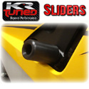 KR Tuned Cut Frame Sliders - Black - 09-12 Kawasaki ZX6R