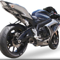 06-07 Suzuki GSXR600/750 Hotbodies Megaphone Slip-On Exhaust