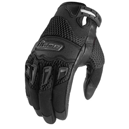 Icon Twenty-Niner Motorcyle Gloves Black