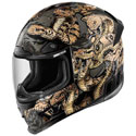Icon Airframe Pro Full Face Motorcycle Helmet Cottonmouth Gold