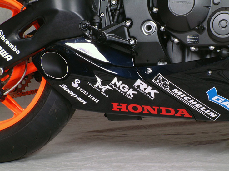 2008-2011 Honda CBR 1000RR Taylormade CF Trim Slip-On Exhaust