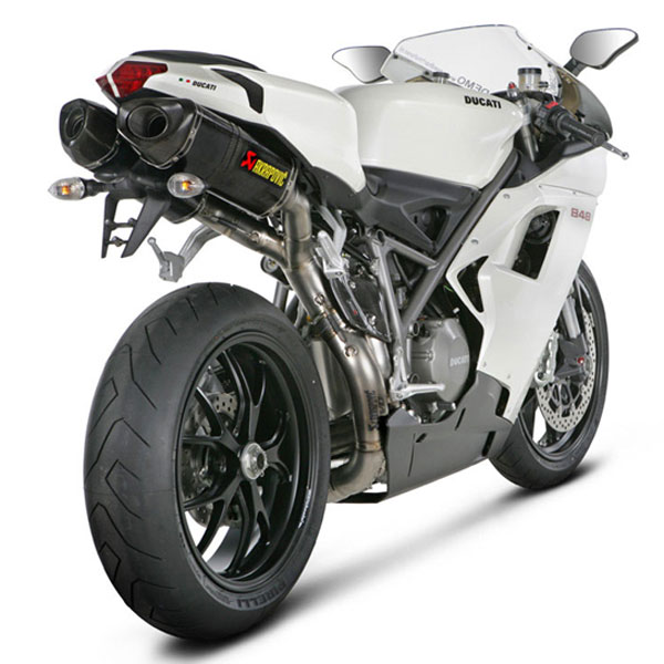 Ducati 1098/S/R/1198/S Akrapovic Dual Carbon Slip-on Exhaust