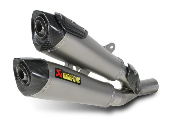 11-17 Ducati Diavel Akrapovic Slip-On Exhaust Titanium