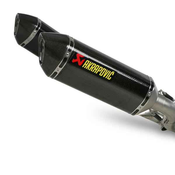 Monster 696/796/1100/S Akrapovic Dual Carbon Slip-On Exhaust