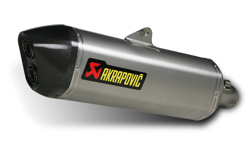 09-11 BMW K1300GT Akrapovic Street Legal Slip-On Titanium Can