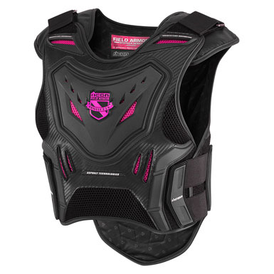 Icon Women's Stryker Vest Black/Pink