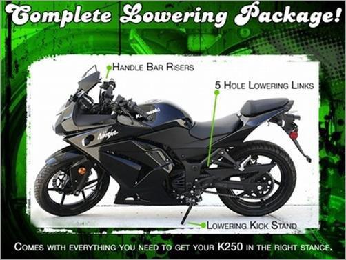Roaring Toyz Kawasaki Ninja 250r Lowering Package Kit Rtk250j