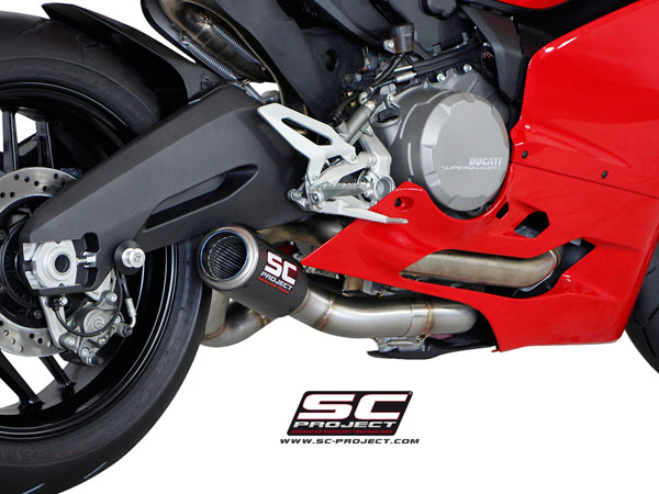 Ducati Panigale 899 SC-Project Collector Pipe w/CR-T Silencer