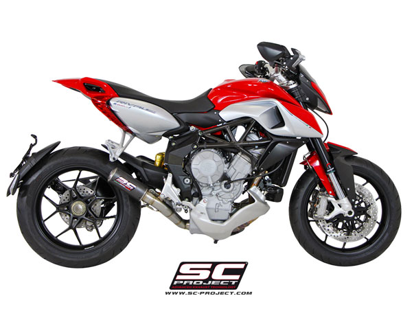 MV Agusta Rivale SC-Project De-Cat CR-T Silencer w/Link Pipe
