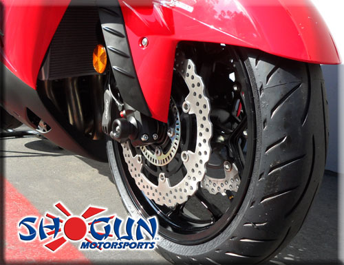 06-17 Kawasaki ZX14R Shogun Motorsports Axle Sliders Black