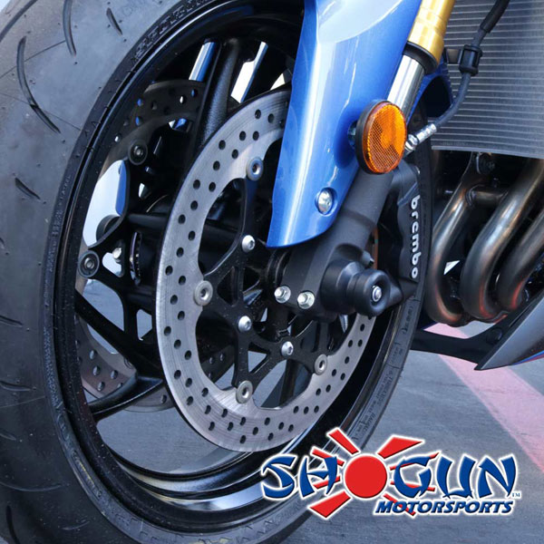 16-17 Suzuki GSXS 1000 Shogun Motorsports Axle Sliders Black