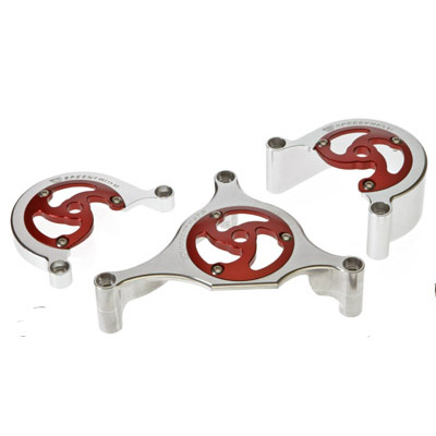 93-08 Ducati 2 Valve SpeedyMoto Belt Covers Red Clear