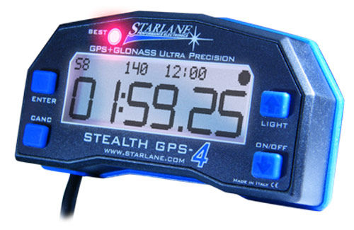 Starlane Stealth GPS-4 Lap Timer with Track Mapping