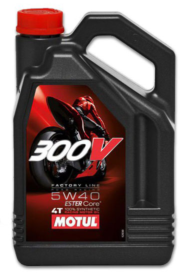 Motul 300V Full Synthetic Motor Oil 5W40 4 Liters