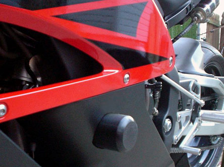 04-07 Honda CBR1000RR Woodcraft Frame Slider Kit Includes Pucks