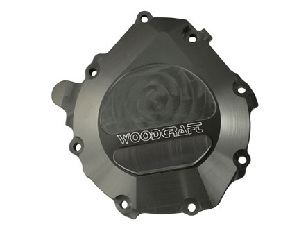 08-15 CBR 1000 R Woodcraft Stator Cover Black W/Skid Plate