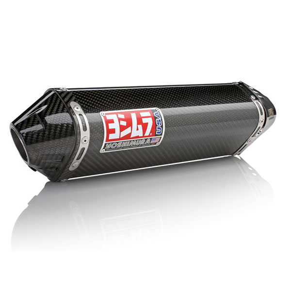 08-09 Suzuki B-King Yoshimura TRC Dual Slip-On Exhaust Carbon