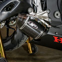 17-18 Honda CBR 1000RR M4 Street Slayer Slip-On Exhaust Carbon