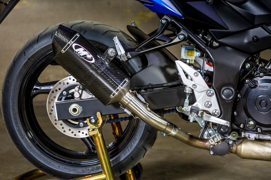15-17 GSX-S 750 M4 Std MC36 Carbon Slip-on Exhaust System