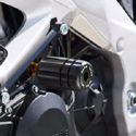 12-15 Aprilia Tuono V4 R Sato Racing Derlin Frame Sliders