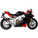 09-14 Aprilia RSV4 Scorpion Slip-On Factory Oval Carbon