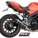 07-10 Speed Triple 1050 SC-Project Low Position Oval Silencer