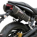 07-12 Street Triple 675/R SC-Project Dual Oval Silencers