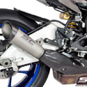 15-17 YZF-R1/R1M SC-Project S1 Silencer For Stock Catalyst