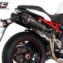 11-15 Speed Triple 1050 SC-Project Dual Carbon Conic Silencers