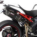 11-15 Speed Triple 1050 SC-Project Dual Oval Silencers