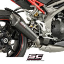 16-17 Speed Triple 1050 S/R SC-Project Carbon Conic Silencer