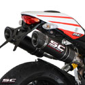 Ducati Monster 796 SC-Project Dual GP-Tech Silencers