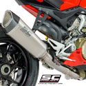 Panigale V4/S SC-Project 2-1 System with SC1-R Titanium Silencer