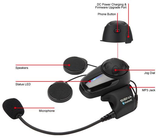 sena smh10 11 bluetooth headset intercom universal microphone smh10 11 bayside performance. Black Bedroom Furniture Sets. Home Design Ideas