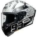 Shoei X-14 Full Face Motorcycle Helmet Marquez 4 White/Black