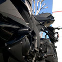 09-12 Kawasaki ZX6R Shogun No-Cut Frame Sliders Black