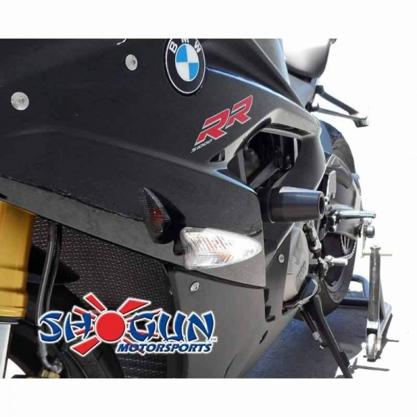 15-17 BMW S1000RR Shogun No-Cut Complete 3pc Slider Kit Black